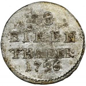 Augustus III of Poland, 1/48 Thaler Dresden 1756 FWôF