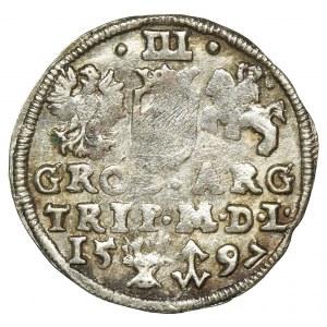 Sigismund III Vasa, 3 Groschen Vilinius 1597