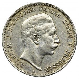 Germany, Prussia Kingdom, Wilhelm II, 5 Mark Berlin 1907 A