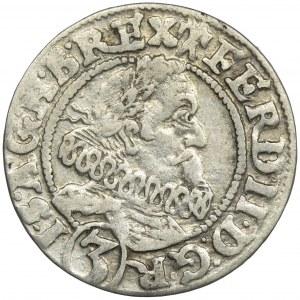 Śląsk, Ferdynand II, 3 Krajcary Wrocław 1628 HR