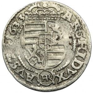 Śląsk, Ferdynand II, 3 Krajcary Wrocław 1633 HR