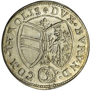 Austria, Ferdynand Karol, 3 Krajcary Hall 1647