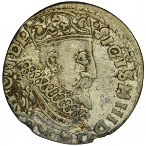 Sigismund III Vasa, 3 Groschen Krakau 1601 - right head