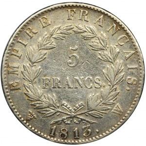 Francja, Napoleon Bonaparte, 5 Franków Lille 1813 W