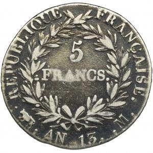 Francja, Napoleon Bonaparte, 5 Franków Tuluza AN 13 M(1804-1805)