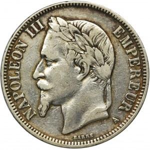 Francja, Napoleon III, 5 Franków Paryż 1870 A
