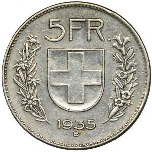 Szwajcaria, 5 Franków 1935