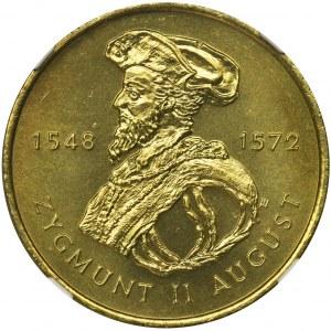 2 złote 1996 Zygmunt II August - NGC MS67