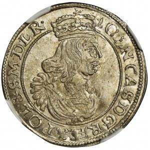 John II Casimir, 6 Groschen Krakau 1663 AT - NGC MS65