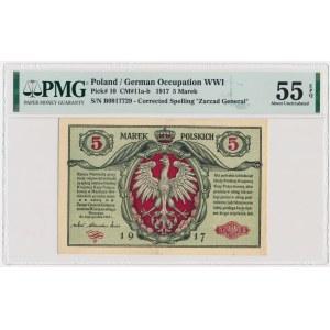 5 marek 1916 Generał biletów - B - PMG 55 EPQ