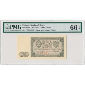2 złote 1948 - CF - PMG 66 EPQ