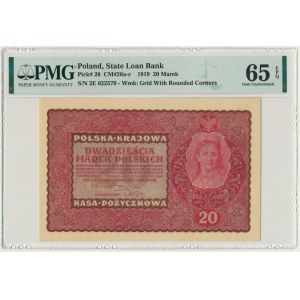 20 marek 1919 - II Serja E - PMG 65 EPQ - rzadka