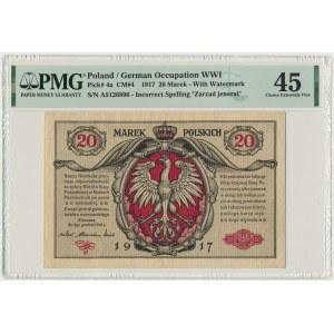 20 marek 1916 Jenerał - PMG 45 - RZADKI i ŁADNY