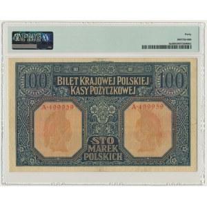 100 marek 1916 Jenerał - 6 cyfr - PMG 40 - RZADKI