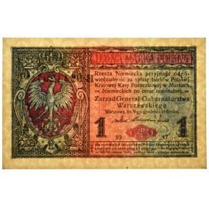 1 marka 1916 Generał - B - PMG 66 EPQ