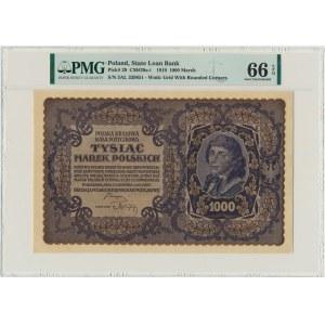 1.000 marek 1919 - III Serja AL - PMG 66 EPQ