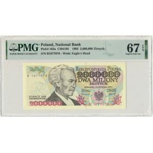 2 miliony złotych 1992 - B - PMG 67 EPQ