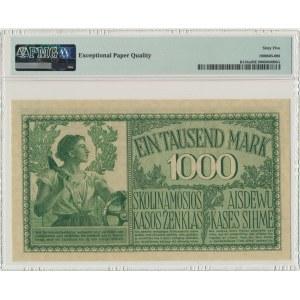 Kowno, 1.000 mark 1918 - A - 6 digital serial number - PMG 65 EPQ