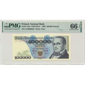 100.000 złotych 1990 - AA - PMG 66 EPQ