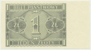 1 złoty 1938 - druk jednostronny