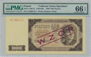 500 złotych 1948 WZÓR - CC - PMG 66 EPQ