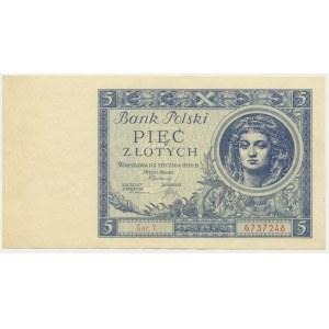 5 złotych 1930 - Ser. Y - rzadka i ładna