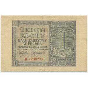1 złotych 1940 - B -