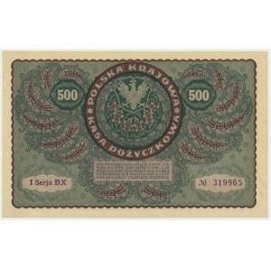 500 marek 1919 - I Serja BX -