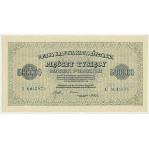 500.000 marek 1923 - U - 7 cyfr -