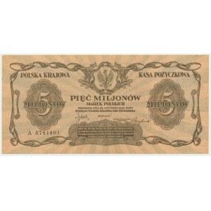 5 milionów marek 1923 - A - BARDZO ŁADNY