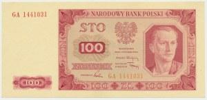 100 złotych 1948 - GA - bez ramki -