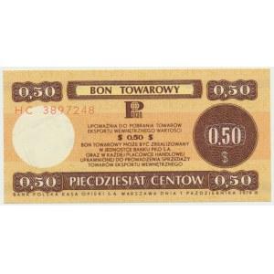 Pewex, 50 centów 1979 - HC - mały