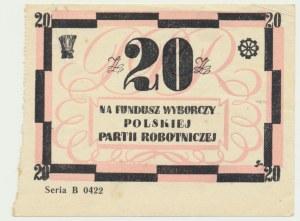 Fundusz Polskiej Partii Robotniczej, cegiełka na 20 złotych