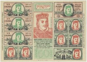 Łódź, kartka na chleb i mydło 1917