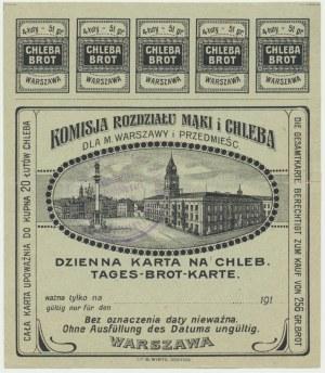 Warszawa, dzienna kartka żywnościowa na chleb
