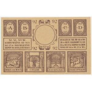 Warszawa, kartka żywnościowa na macę 1919