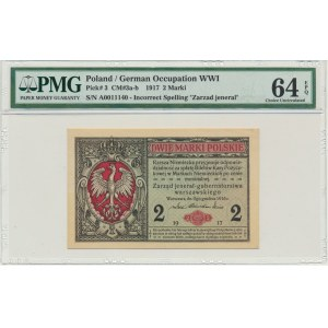 2 marki 1916 Jenerał - A - PMG 64 EPQ