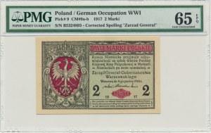 2 marki 1916 Generał - B - PMG 65 EPQ