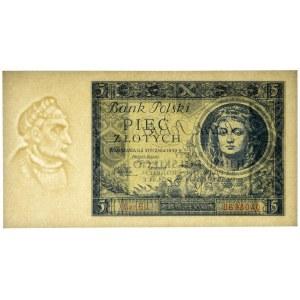 5 złotych 1930 - Ser. CU. - PMG 66 EPQ