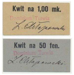 Dominium Turwia, zestaw 5 fenigów i 2 marki (2szt.)