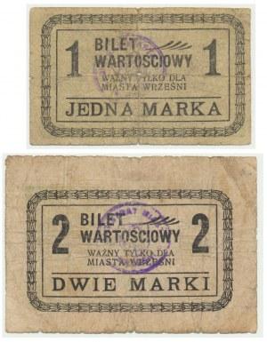 Września, zestaw 1 i 2 marki (2szt.)