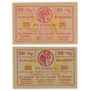 Bismarkhuta, 25 i 50 fenigów 1921 (2szt)
