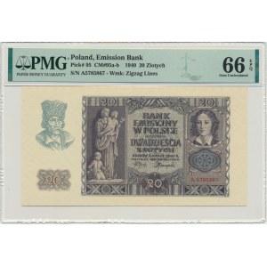 20 złotych 1940 - A - PMG 66 EPQ