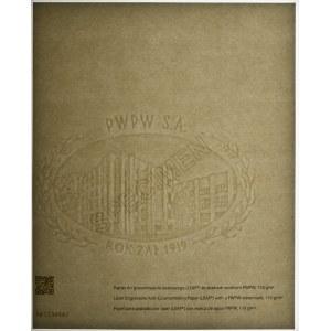 PWPW, znak wodny PWPW - SPECIMEN - nadruk laserowy LEAP -