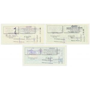 Społem, zestaw bonów towarowych 10-50 złotych 2000-2002 (3 szt.)