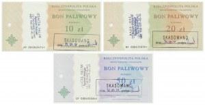 Zestaw, Bony paliwowe z 2002 roku (3szt.)