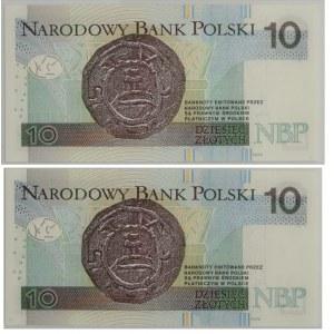 10 złotych 2012 - AO - nielakierowany i lakierowany (2szt)