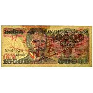 10.000 złotych 1987 - WZÓR W 0000000 No. 0903 -
