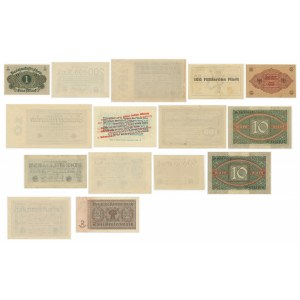 Germany, set of banknotes and notgelds (15 pcs.)