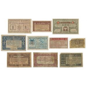 Zestaw bonów, asygnat i notgeldów (9 szt.)